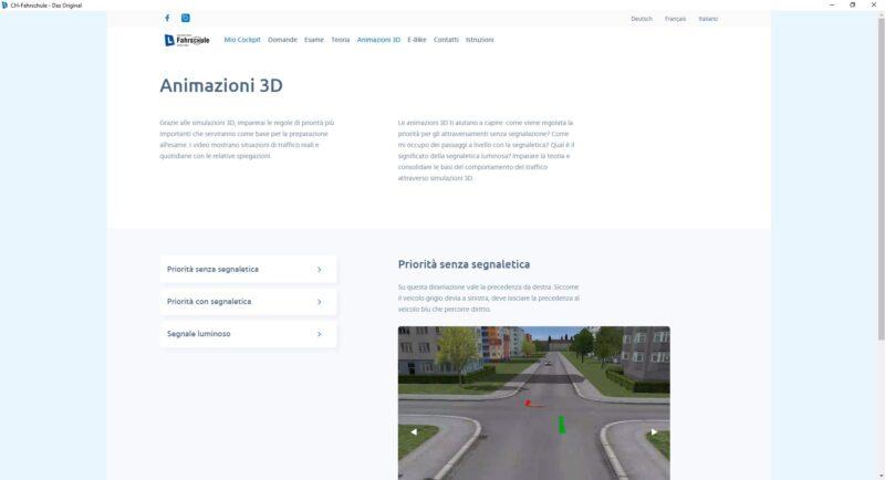 Software di apprendimento - Filmati 3D – cat. B, A, A1 per mettervi in situazione reale di guida