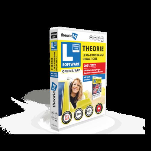 Online Lernsoftware mit Buch für die Auto-Theorieprüfung - Logiciel d'apprentissage en ligne avec livre pour l'examen théorique