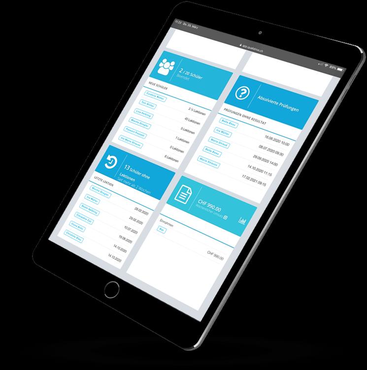 QualiDrive - die Software für Fahrlehrer und Fahrschulen aus der Schweiz